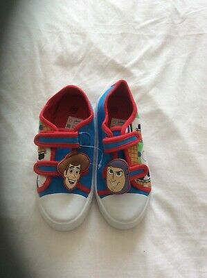 £7 • Buy Kids Toy Story 3D Canvas Pumps Buzz Woody Easy Fasten Trainers Summer