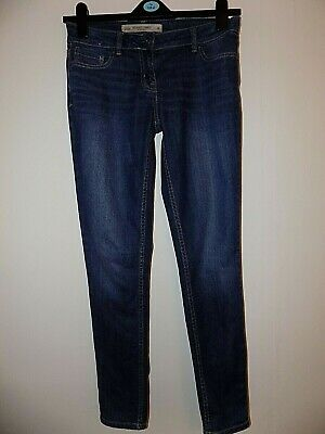 £10 • Buy Womens Next Relaxed Skinny Fit Everyday Dark Blue Stone Washed Jeans Size 8R