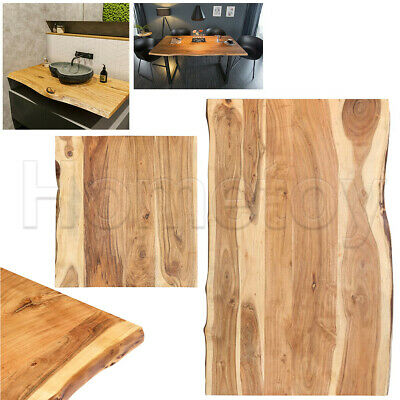£195.50 • Buy Solid Acacia Wood Table Top Edge Of Tree Replacement For Coffee Dining Table