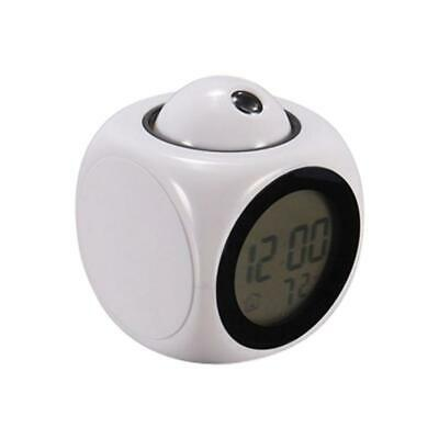 £5.47 • Buy Clock Time Temperature Projector LED Digital Projection Voice LCD Talking R0T0