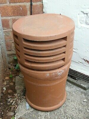 £75 • Buy Vintage Original Old Reclaimed Terracotta Clay Vented Chimney Pot Garden Feature