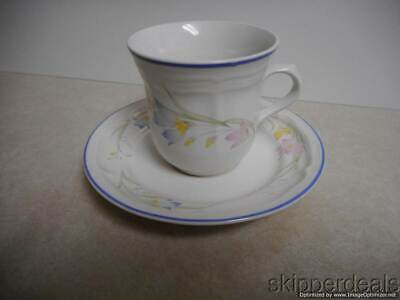£10.86 • Buy French Garden Floral Coffee Cup Saucer Plate Genuine Stoneware Thailand
