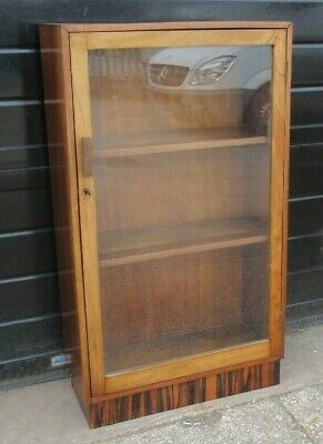 £110 • Buy Vintage Mahogany Glass Fronted Display Cabinet / Bookcase