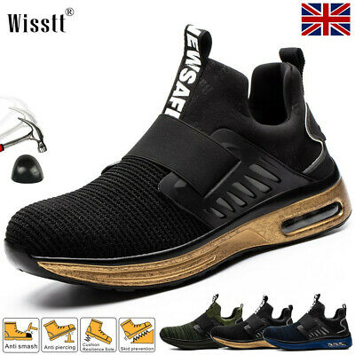 £25.75 • Buy Mens Safety Trainers Women Sports Steel Toe Cap Shoes Work Boots Light Hiking