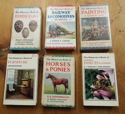£16.99 • Buy Observers Books Job Lot Birds Eggs Locomotives Paintings Furniture Insects Horse