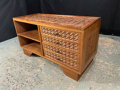 £300 • Buy EB1917 Tanzanian Carved African Rosewood Storage Cabinet Sideboard