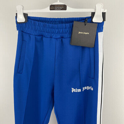 £250 • Buy Palm Angels Tracksuit Bottoms, Trackpants, Blue, Size Large, Brand New With Tags