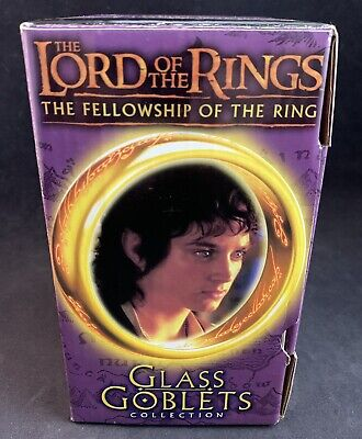 £14.54 • Buy Lord Of The Rings The Fellowship Of The Ring Glass Goblets Collection (2001)