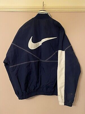 £19.50 • Buy Nike Vintage 90's White Tag Jacket Track Suit  Top Blue & White Small