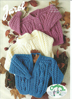 £1.50 • Buy   Aran Childs Cardigans And Sweater   22  - 32  Chest  JAROL KNITTING PATTERN