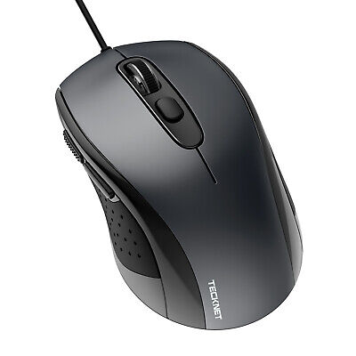 £7.99 • Buy TECKNET USB Wired Mouse Gaming Office Optical Mice Scroll For PC Laptop Computer