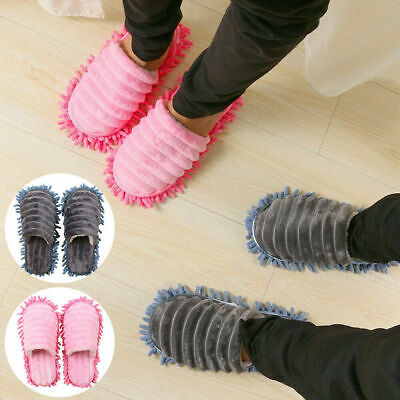 £7.99 • Buy One Pair Mop Slippers Lazy Floor Cleaning Mops Foot Socks Shoes Quick Polishing