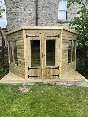£2620 • Buy Garden Shed Hexagon Summer House Tanalised Super Heavy Duty 12x8 19mm T&g. 3x2