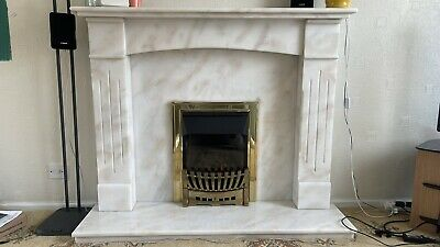 £150 • Buy Balanced Flue Gas Fire With Solid Marble Surround