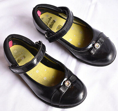 £16.99 • Buy Girl's Size 10 1/2 G Clarks Daisy Black Leather  School Shoes (no Toys)