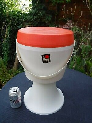 £30 • Buy Vintage 60s 70s FLAIR Plastic Sewing Knitting Container Stool Orange & White