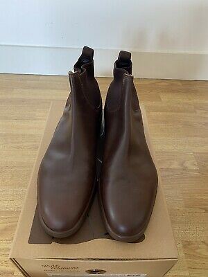 £200 • Buy RM Williams Yard Boot 365 Walnut Brown Size UK 11G Chelsea Boots