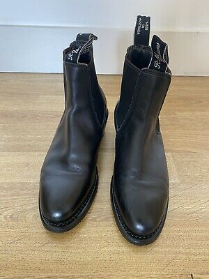 £120 • Buy RM Williams Lady Yearling Black Leather UK 2.5D US 5D Womens Chelsea Boots