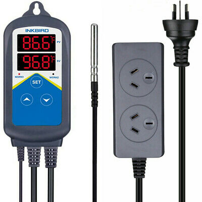 AU38.99 • Buy Inkbird Wired Temperature Controller ITC-306T Heating Dual Outlet Greenhouse Fan