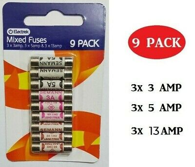 £0.99 • Buy Mixed 3 AMP 5 AMP 13 AMP Domestic Electric Mains Plug Household Cartridge Fuses