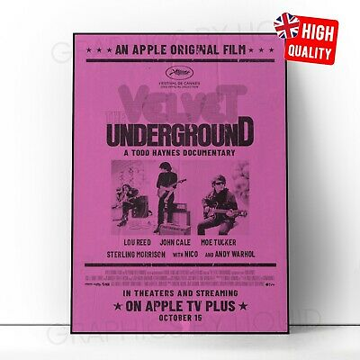 £2.99 • Buy The Velvet Underground Music 2021 Movie Poster | A5 A4 A3 A2 A1 |