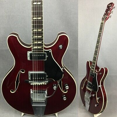 AU1877.37 • Buy YAMAHA SA-50 Cherry Red 1971 Electric Guitar With Soft Case From Japan