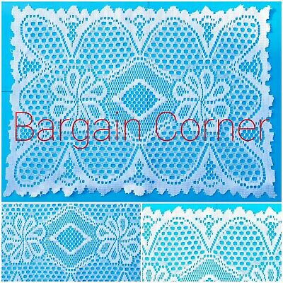 £3.48 • Buy Rectangular Polyester Lace Table Doilies Decoration Protector Placemat Doily Mat