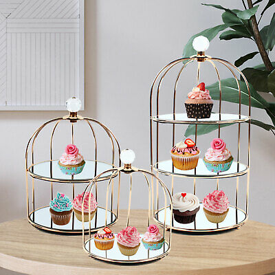£45.19 • Buy Iron Bird Cage Shaped Cakes Cupcakes Display & Serving Stand, Dresser Cosmetic