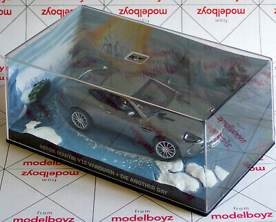 £8.75 • Buy James Bond Car Collection ASTON MARTIN V12 VANQUISH Die Another Day 1:43 Mint