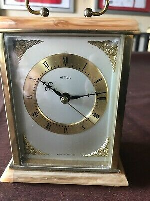 £29 • Buy Vintage Metamec 1970'S Carriage Clock Brass And Faux Onyx FULL WORKING ORDER