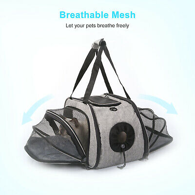 £22.99 • Buy Dual-Sided Dog Puppy Crate Carry Pet Cat Carrier Bag Portable Travel Kennel Cage