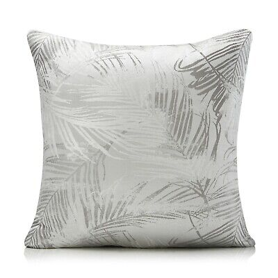 £6.99 • Buy Fiji Silver And Grey Palm Leaf Woven Cushion Covers, 2 Sizes, Free P&P