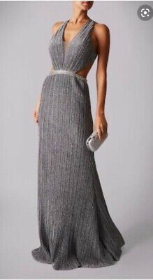 £75 • Buy Mascara Femme Evening Prom Ball Gown Dress UK8 S BNWT New Illusion Pleated Knit