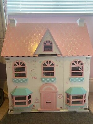 £20 • Buy Wooden Dolls House Rosebud Cottage With Furniture And Dolls - ELC Mothercare