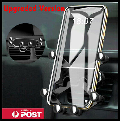 AU19.99 • Buy Gravity Car Phone Holder Air Vent Mount 360° Stand Cradle GPS For Mobile Phone
