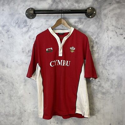 AU27.60 • Buy Wales CYMRU Spell Out T Shirt MANAV Premier Clothing Red Stained B1