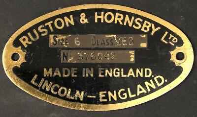 £85 • Buy Ruston & Hornsby Ltd Lincoln Supplier Steam Stationary Engine Badge Plaque Plate