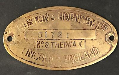 £95 • Buy Ruston & Hornsby Ltd Lincoln Supplier Steam Stationary Engine Badge Plaque Plate