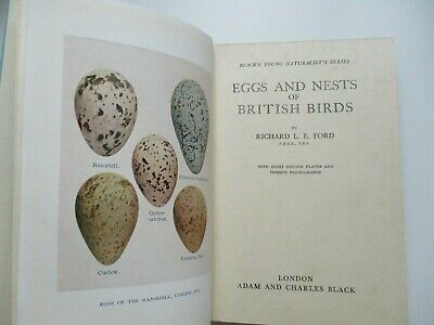 £11.50 • Buy 1950 1st EGGS AND NESTS OF BRITISH BIRDS R. L. E. Ford PLATES Ornithology HB D/J