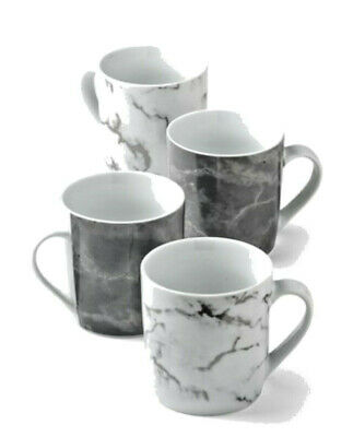 £13.98 • Buy Set Of 4 White And Grey Marble Effect Mugs Next, New