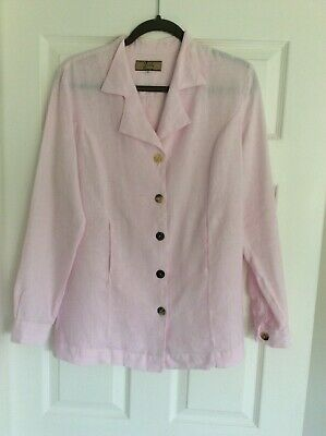 £13 • Buy Linen Press Pink Jacket Size 40 Excellent Condition
