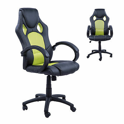AU135.86 • Buy Racing Chair Gaming Sports Swivel PU Leather Office PC Chair Height Adjustable-B