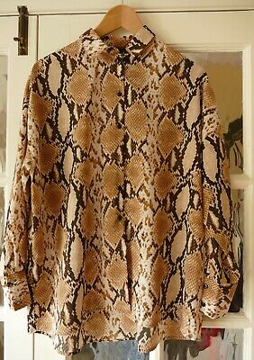 £1 • Buy M&S Collection Size 14 Blouse With Snakeskin Pattern In Shades Of Brown