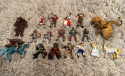 £57.81 • Buy 29 X Papo & ELC Medieval Knights Monsters Pirates Figures Bundle Dragons Rare