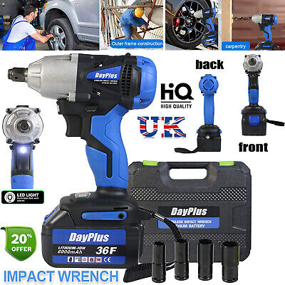 £72.96 • Buy 1/2  460NM Rechargeable Torque Impact Wrench Cordless Replacement Drills Tools