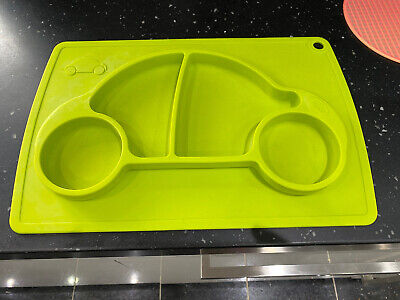 £8 • Buy Car Silicone Baby Kids Placemat Feeding Food Tray Plate Meal Table Mat Blue Used