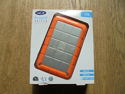 £31 • Buy Lacie Rugged Triple 1TB External Hard Drive With USB3 And Firewire 800 Ports