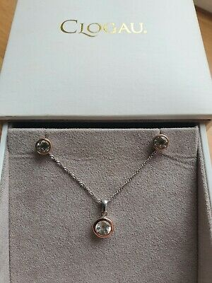 £70 • Buy Clogau Gold Celebration Sterling Silver & 9c Rose Gold Necklace & Earrings