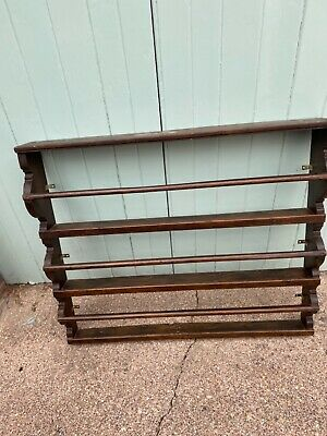 £20 • Buy Vintage Wooden Plate Rack / Display - Large - Wall Mounted - Refurb Project.