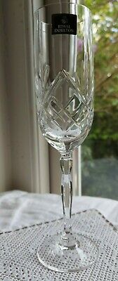 £15.99 • Buy Royal Doulton (Daily Mail) 2 X CHAMPAGNE FLUTE 24% Lead Crystal Glasses